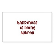 happiness is being Aubrey Rectangle Decal