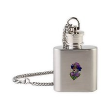 Funny Clown Flask Necklace