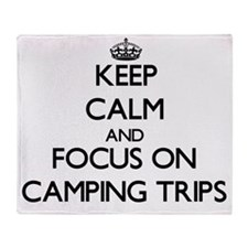 Keep Calm by focusing on Camping Tri Throw Blanket