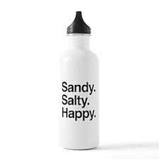 Sandy. Salty. Happy. Water Bottle