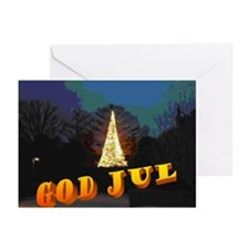 Norwegian God Jul Tree Christmas Cards