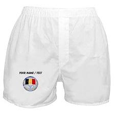 Custom Belgium Soccer Ball Boxer Shorts