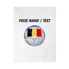 Custom Belgium Soccer Ball Twin Duvet