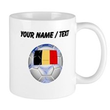 Custom Belgium Soccer Ball Mugs