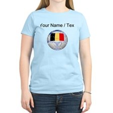 Custom Belgium Soccer Ball T-Shirt
