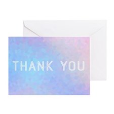 Geometric Thank You Greeting Cards