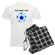 Custom Blue Soccer Ball Pajamas