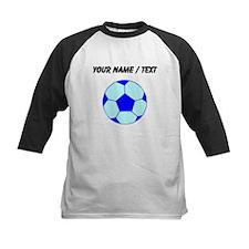 Custom Blue Soccer Ball Baseball Jersey