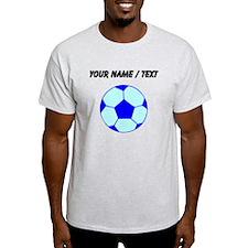 Custom Blue Soccer Ball T-Shirt