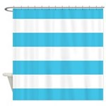 Caribbean Blue And White Shower Curtain