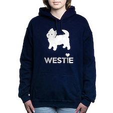 I Love Westie Dogs Women's Hooded Sweatshirt