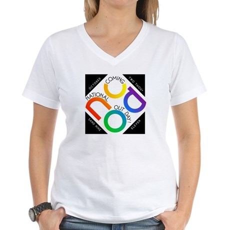 NCOD 2009 Women's V-Neck T-Shirt