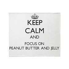 Keep Calm by focusing on Peanut Butt Throw Blanket