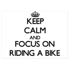 Keep Calm by focusing on Riding A Bike Invitations