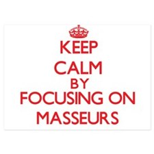 Keep Calm by focusing on Masseurs Invitations