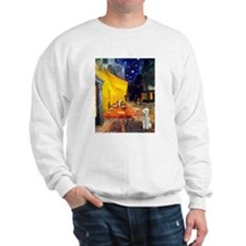 Van Gogh's Terrace Cafe & Bedlington Sweatshirt