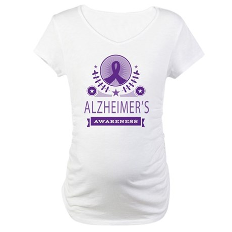 Alzheimers Ribbon Maternity T-Shirt