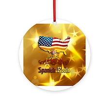 Spanish American Christmas Ornament (Round)