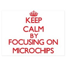 Keep Calm by focusing on Microchips Invitations