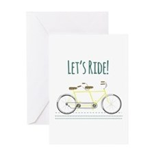 Lets Ride Greeting Cards