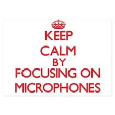 Keep Calm by focusing on Microphones Invitations