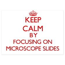 Keep Calm by focusing on Microscope Sl Invitations