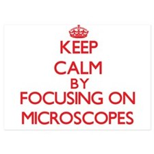 Keep Calm by focusing on Microscopes Invitations