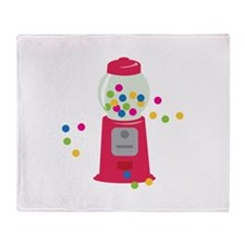 Bubble Gum Machine Throw Blanket