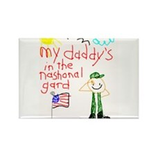 """National Guard Daddy"" Series Rectangle Magnet (10"