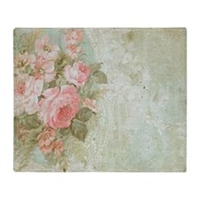 Unique Floral shabby chic Throw Blanket