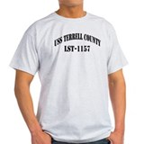 USS TERRELL COUNTY Ash Grey T-Shirt
