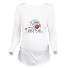 stork baby switz 2.p Long Sleeve Maternity T-Shirt