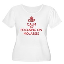 Keep Calm by focusing on Molasse Plus Size T-Shirt