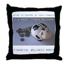 Financial Wellness Month Throw Pillow