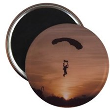 "2.25"" Magnet (10 pack) with Sunset Skydiver"
