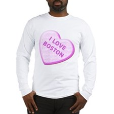 I Love Boston (Candy Heart) - Long Sleeve T-Shirt