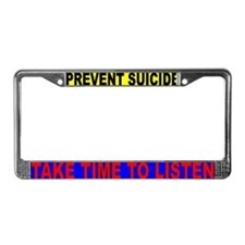 prevent suicide License Plate Frame