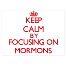 Keep Calm by focusing on Mormons Invitations