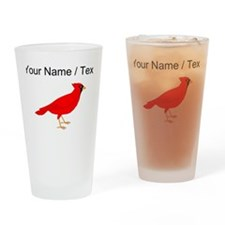 Custom Red Cardinal Drinking Glass