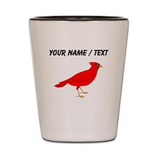 Custom Red Cardinal Shot Glass