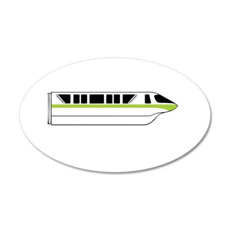 Monorail Green Larger Wall Decal