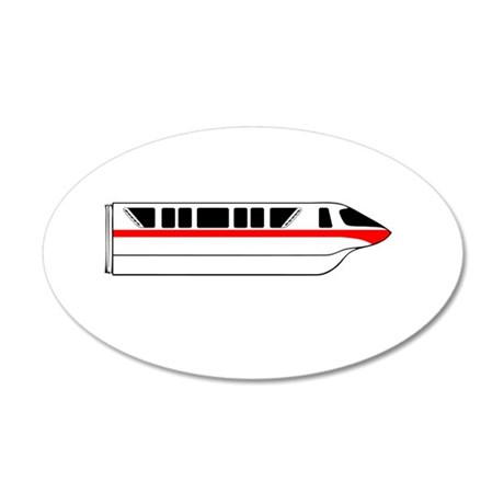 Monorail Red Larger Wall Decal