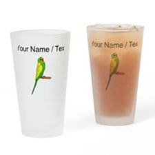 Custom Budgie Bird Drinking Glass
