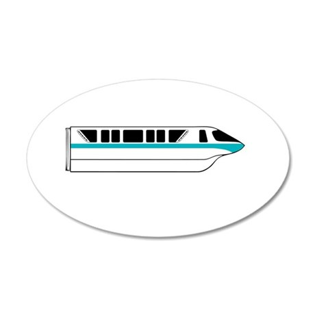 Monorail Teal Larger Wall Decal