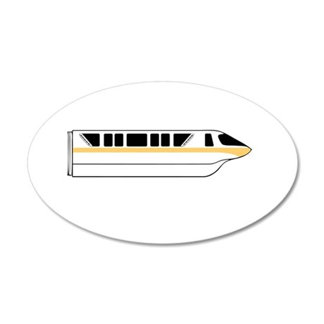 Monorail Peach Larger Wall Decal