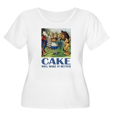 CAKE WILL MAKE IT BETTER Women's Plus Size Scoop N