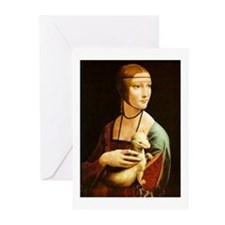 Lady with an Ermine Greeting Cards (Pk of 10)