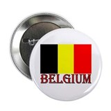 Word & Flag of Belgium Button