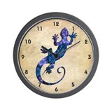 Blue Gecko Wall Clock