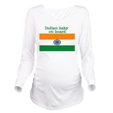 Funny Indian Long Sleeve Maternity T-Shirt